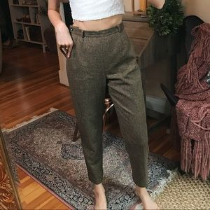 Vintage Talbots high waisted Italian wool trouser